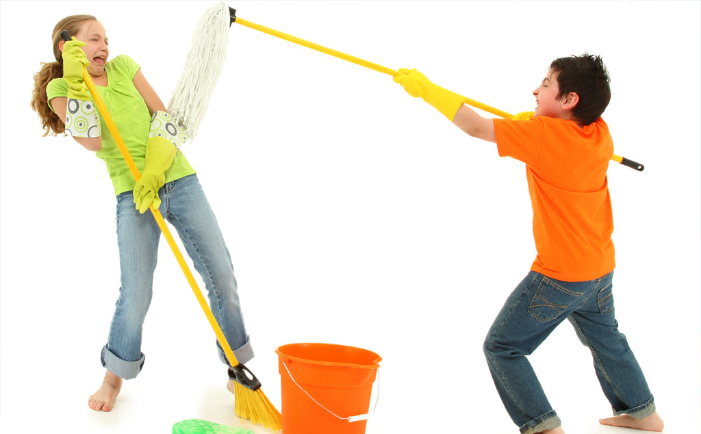 Spring Cleaning - Fun Ways to Get the Kids Involved!