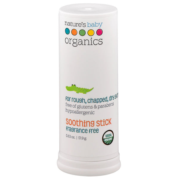 Organic Soothing Stick and Lip Balm Fragrance Free 0.63 oz
