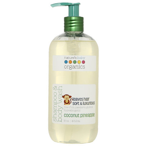 Shampoo & Body Wash Coconut Pineapple 16 oz