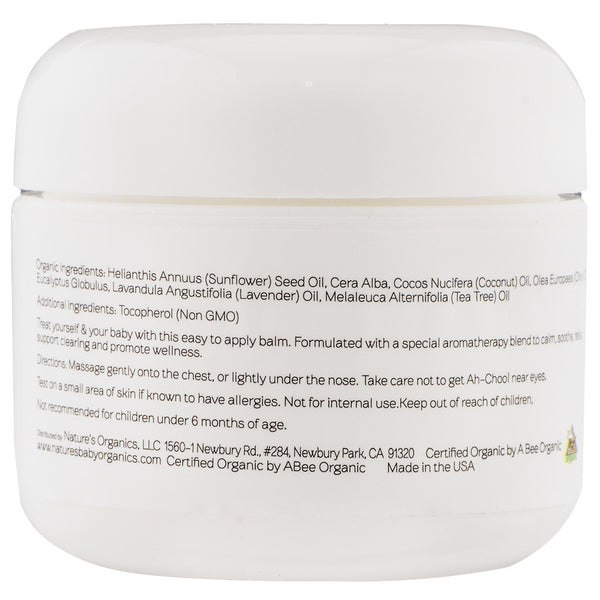 Organic Ah-Choo! Chest Rub Eucalyptus 2 oz