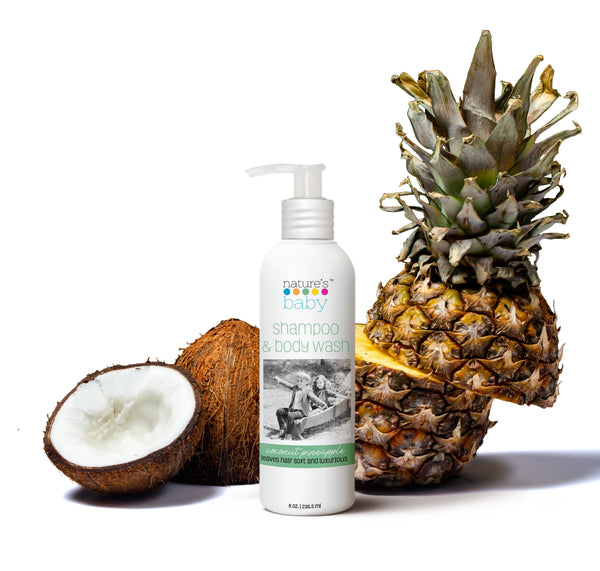 Shampoo & Body Wash Coconut Pineapple- 8 oz Aluminum