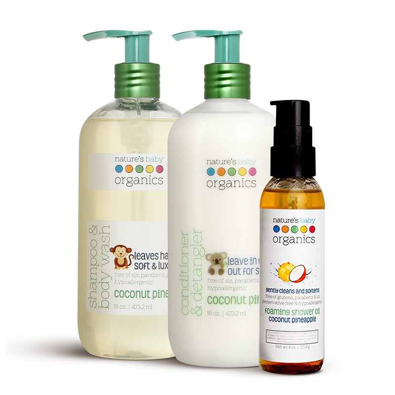 Essential Bath Bundle -  Coconut by natures baby organic