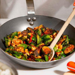 Charred Brussels Sprouts with Soy Chili Glaze