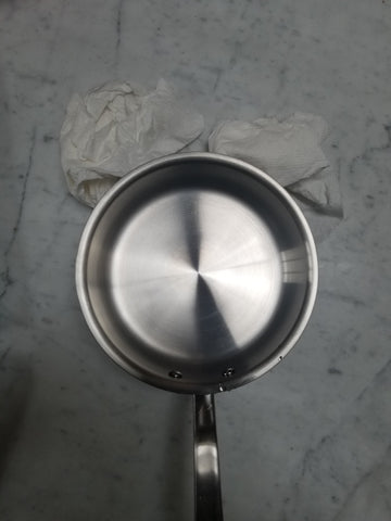 stainless steel cookware restored after discoloration removal