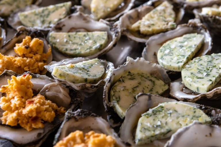 compound butter with oysters