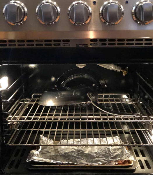 seasoning carbon steel pan in oven