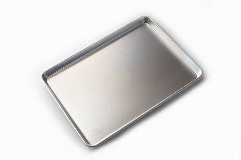 made in sheet pan on white background