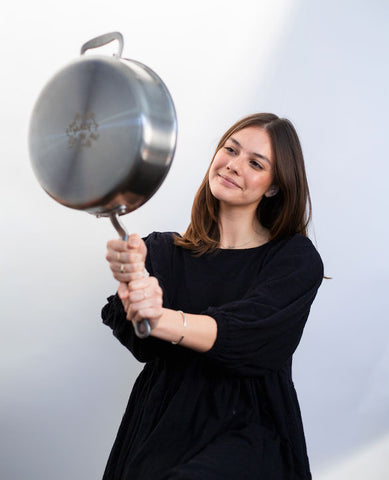 paige holding made in stainless clad saute pan