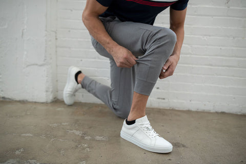 man in jogger pants