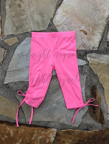 Dark Pink Twisty Capris