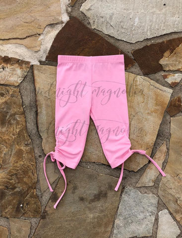 Light Pink Twisty Capris