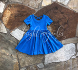 Royal Blue Flora Dress