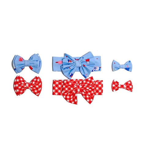Popsicle Picnic & Gingham Hair Accessories