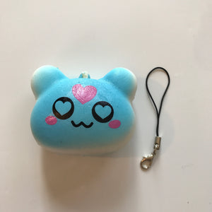 BLUE LOVE BEAR SQUISHY