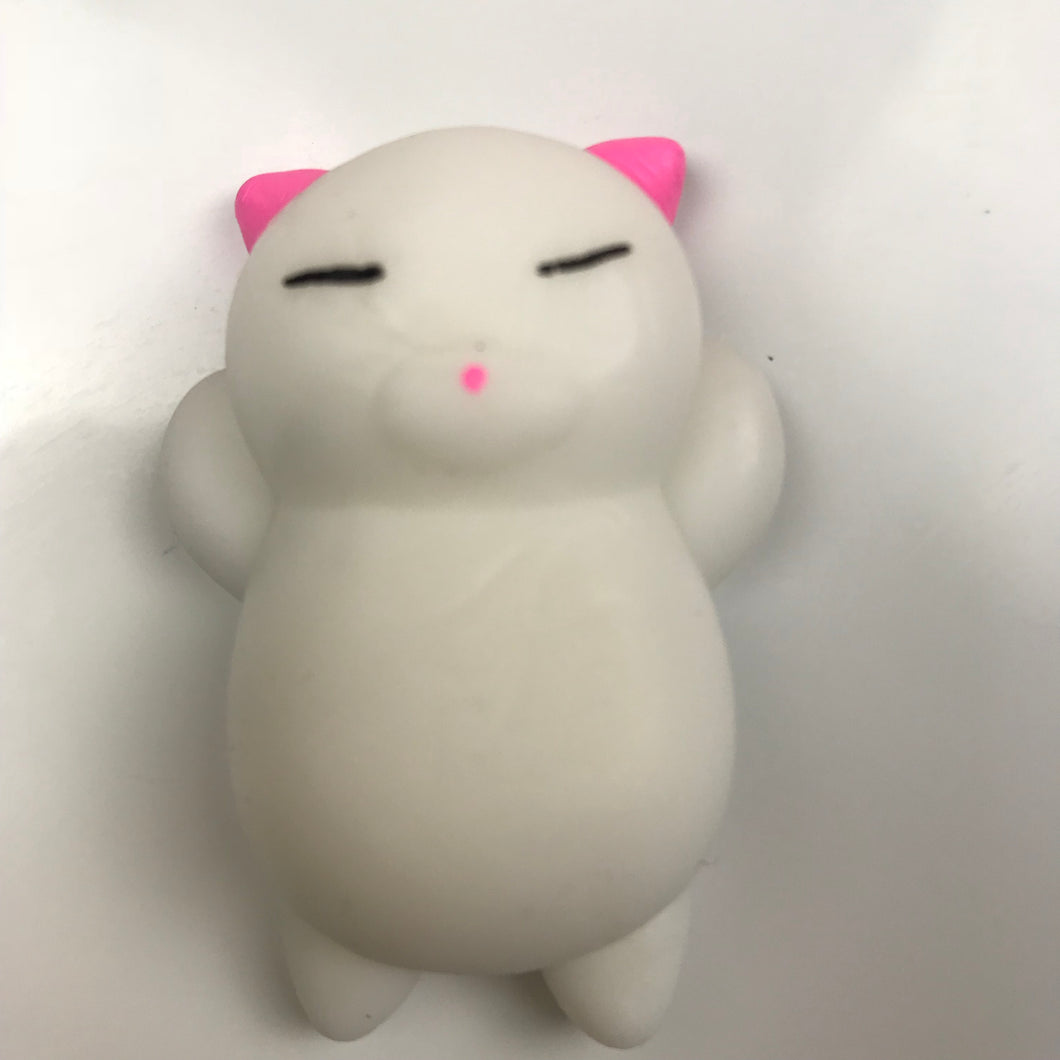 LAZY KITTY WITH PINK EARS MOCHI SQUISHY