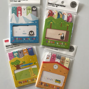 DAISO MEMO & POINT MARKER SET