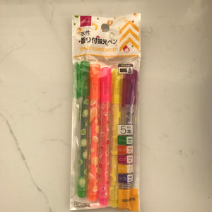 DAISO FRUIT HIGHLIGHTERS