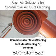 Commercial Air Duct Cleaning, Cleaning Law Offices, Doctors offices, hospitals, Schools.