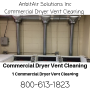Commercial Dryer Vent Cleaning, Laundromats, residential buildings,