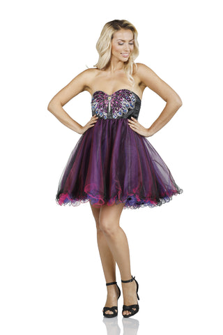 Butterfly Tutu Mini Purple Dress