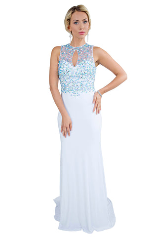 Le Nina - Classic Mermaid Long Blue Evening Dress