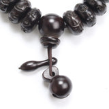 Tibetan Buddhist Black Wooden Beads Bracelet