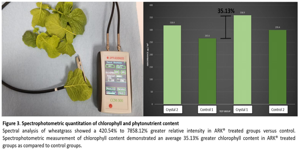 Spectrophotometric testing of chlorophyll and nutrient content