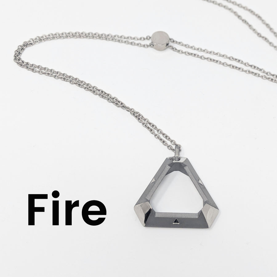 Fire triangle pendant