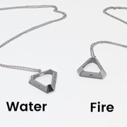 Water and Fire Triangle Pendants