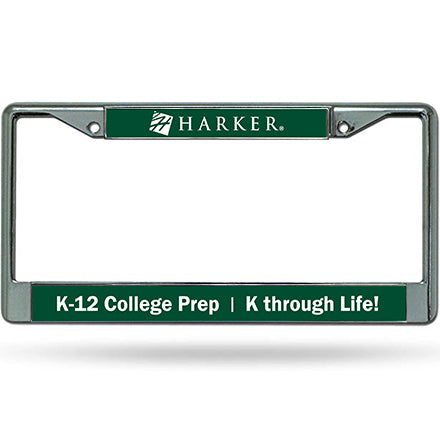 0-A Harker School License Plate Frame