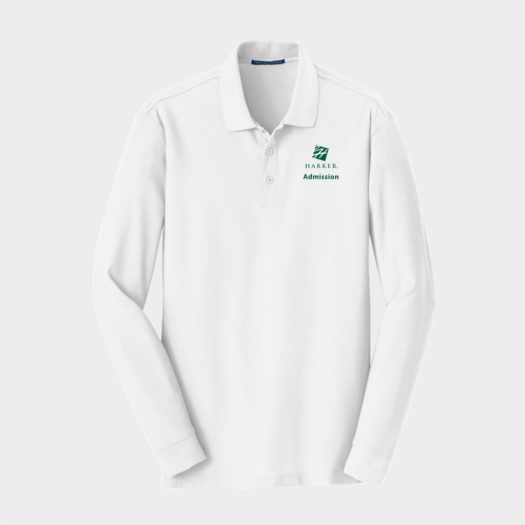 White Long Sleeve Core Classic Pique Polo