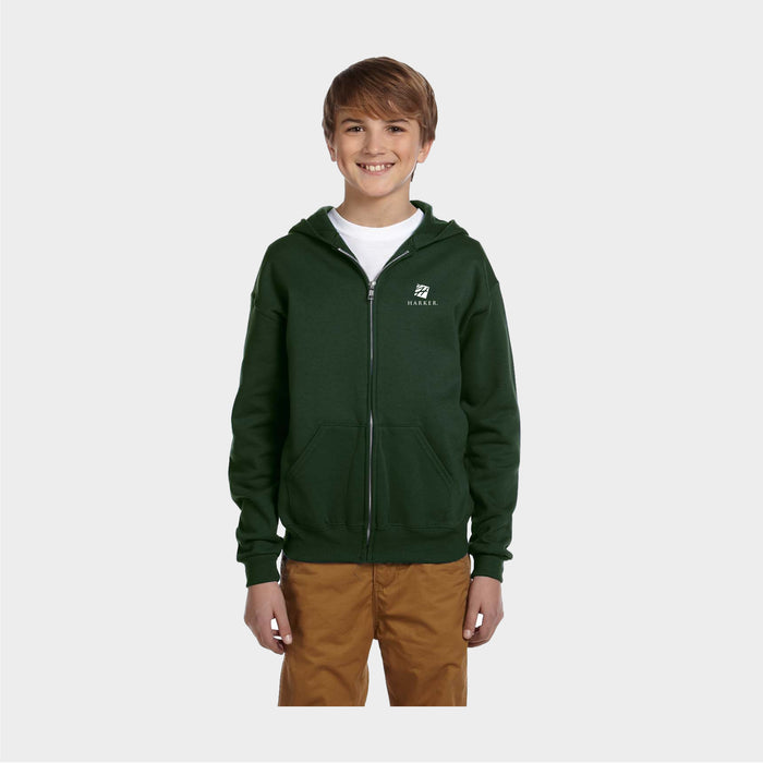 Jerzees Youth Unisex 8 oz. NuBlend Fleece Full-Zip Hood