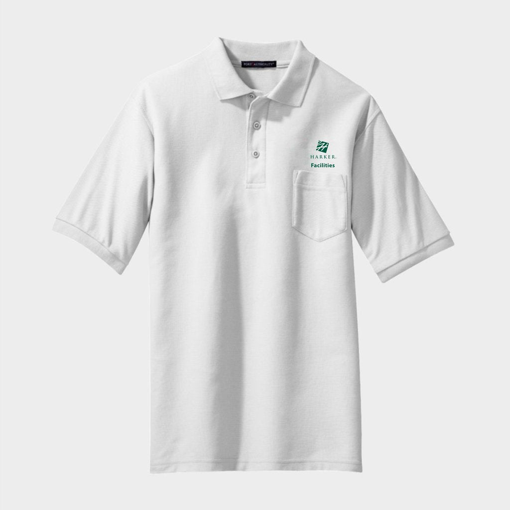 White Authority Silk Touch Polo with Pocket