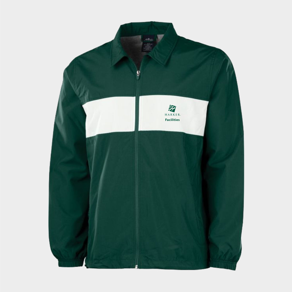 Green ADULT STRIPED SIDELINE JACKET