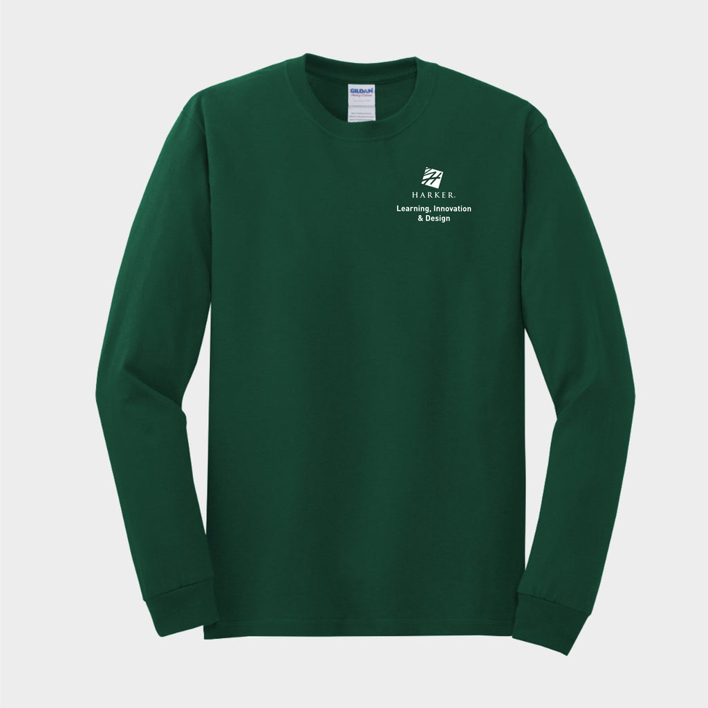 Green Heavy Cotton 100% Cotton Long Sleeve T-Shirt