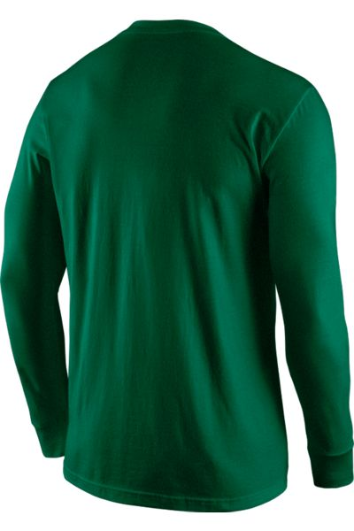 Nike Core Long Sleeve Men's Green Cotton Crew