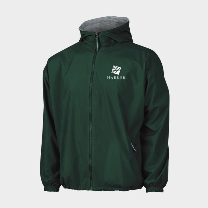 Green Hooded Nylon Jacket