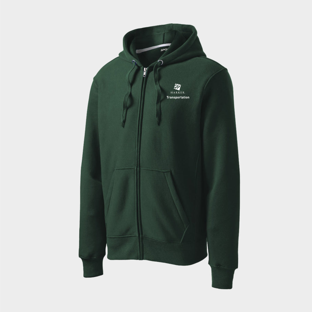 Green Sport-Tek® Super Heavyweight Full-Zip Hooded Sweatshirt