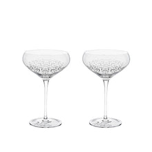 Floral Crystal Cocktail Coupe Set