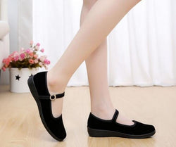 Women Buckle Strap, Round Toe Mary Jane Shoes