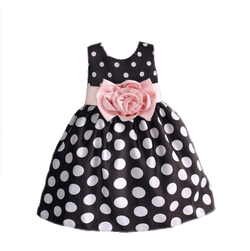 Polka Dot Girls Party Dress