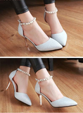 Women's Pointed Toe Ankle Strap Stiletto Heels