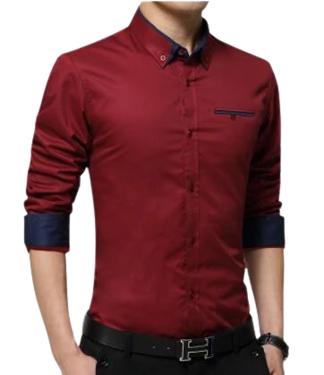 Men's Long Sleeve Slim Fit Business Shirts