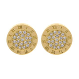 Round Zirconia Earrings