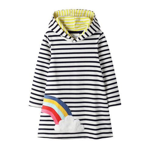 Girl's Dress with Hoodie