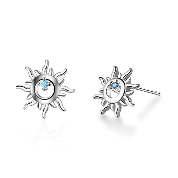 Celestial Sun Shaped Earrings