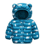 Toddler's Light Hooded Puffer Jacket with Print