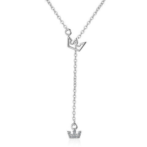 Princess Tiara Charm Necklace For Women
