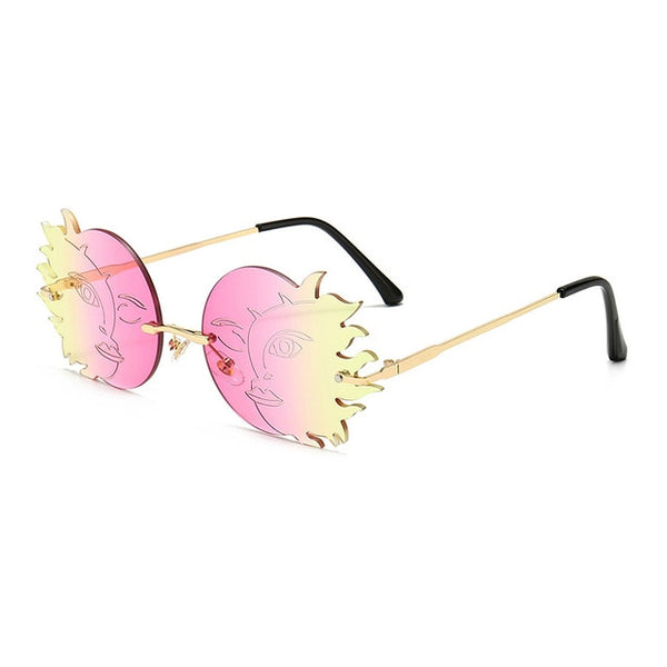 Trendy Rimless Sun and Moon Women's Sunglasses