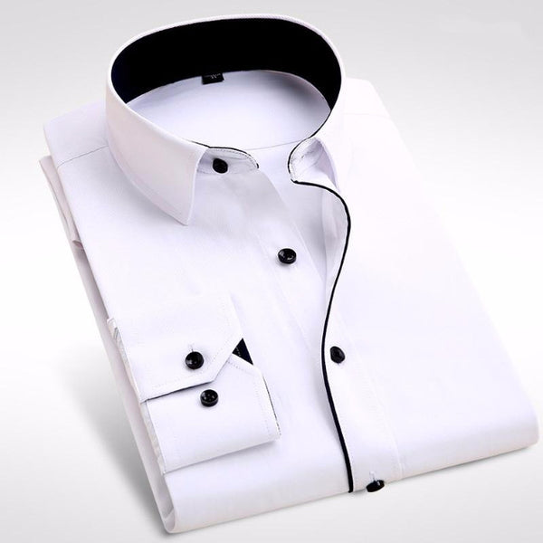 Casual Long Sleeve Business Shirt Men